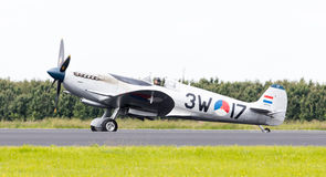 LEEUWARDEN, THE NETHERLANDS - JUNE 10, 2016: A vintage Spitfire Royalty Free Stock Images