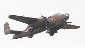 LEEUWARDEN, THE NETHERLANDS - JUNE 11: WW2 B-25 Mitchell bomber Stock Images