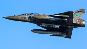 French Air Force Dassault Mirage 2000 fighter jet plane Royalty Free Stock Photos