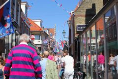 Leeuwarden, Netherlands, May 5 2018, People visiting Liberation Day festival Royalty Free Stock Photos
