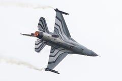 LEEUWARDEN NETHERLANDSEN-JUNE 10, 2016: Belgien - flygvapenG Fotografering för Bildbyråer