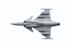 LEEUWARDEN, OS PAÍSES BAIXOS 10 DE JUNHO: Avião de combate tático moderno Fotografia de Stock