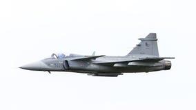 LEEUWARDEN, OS PAÍSES BAIXOS 10 DE JUNHO: Avião de combate tático moderno Imagens de Stock Royalty Free