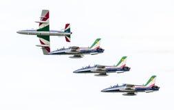 LEEUWARDEN, OS PAÍSES BAIXOS 10 DE JUNHO DE 2016: Chá aerobatic italiano Foto de Stock Royalty Free