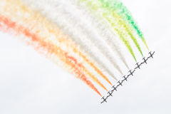 LEEUWARDEN, OS PAÍSES BAIXOS 10 DE JUNHO DE 2016: Chá aerobatic italiano Foto de Stock