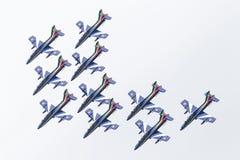LEEUWARDEN, OS PAÍSES BAIXOS 11 DE JUNHO DE 2016: Chá aerobatic italiano Fotografia de Stock