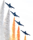 LEEUWARDEN, OS PAÍSES BAIXOS 10 DE JUNHO DE 2016: Chá aerobatic italiano Fotos de Stock Royalty Free