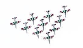 LEEUWARDEN, OS PAÍSES BAIXOS 10 DE JUNHO DE 2016: Chá aerobatic italiano Imagem de Stock