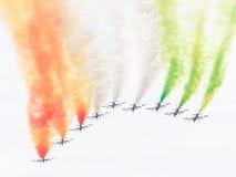LEEUWARDEN, OS PAÍSES BAIXOS 10 DE JUNHO DE 2016: Chá aerobatic italiano Imagem de Stock Royalty Free