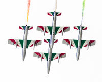 LEEUWARDEN, OS PAÍSES BAIXOS 11 DE JUNHO DE 2016: Chá aerobatic italiano Fotografia de Stock Royalty Free