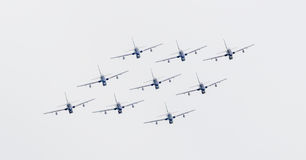 LEEUWARDEN, OS PAÍSES BAIXOS 11 DE JUNHO DE 2016: Chá aerobatic italiano Foto de Stock Royalty Free