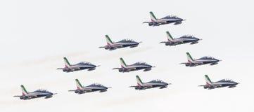 LEEUWARDEN, OS PAÍSES BAIXOS 11 DE JUNHO DE 2016: Chá aerobatic italiano Foto de Stock