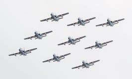 LEEUWARDEN, OS PAÍSES BAIXOS 11 DE JUNHO DE 2016: Chá aerobatic italiano Imagem de Stock Royalty Free
