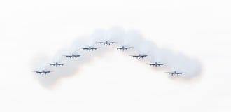 LEEUWARDEN, OS PAÍSES BAIXOS 10 DE JUNHO DE 2016: Chá aerobatic italiano Fotografia de Stock
