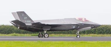 LEEUWARDEN, OS PAÍSES BAIXOS - 10 DE JUNHO DE 2016: F-35 holandês no r Imagem de Stock