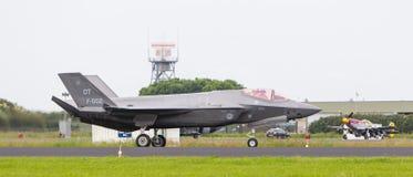 LEEUWARDEN, OS PAÍSES BAIXOS - 10 DE JUNHO DE 2016: F-35 holandês no r Imagens de Stock Royalty Free