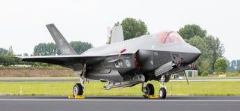 LEEUWARDEN, OS PAÍSES BAIXOS - 10 DE JUNHO DE 2016: F-35 holandês no r Imagens de Stock