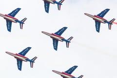 LEEUWARDEN, OS PAÍSES BAIXOS 11 DE JUNHO DE 2016: Pilotos de Patrouille Fotos de Stock