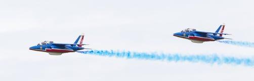 LEEUWARDEN, OS PAÍSES BAIXOS 11 DE JUNHO DE 2016: Pilotos de Patrouille Fotografia de Stock