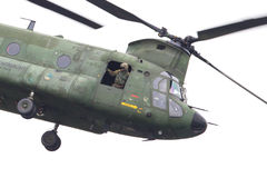 LEEUWARDEN, PAÍSES BAIXOS - JUNI 11 2016: Chinook CH-47 h militar Foto de Stock Royalty Free