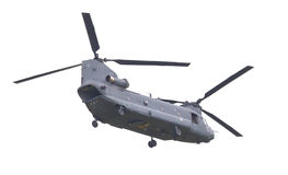LEEUWARDEN, PAÍSES BAIXOS - JUNI 11 2016: Chinook CH-47 h militar Foto de Stock