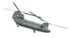LEEUWARDEN, PAESI BASSI - JUNI 11 2016: Chinook CH-47 h militare Fotografia Stock Libera da Diritti