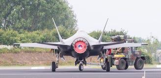 LEEUWARDEN, PAYS-BAS - 11 JUIN 2016 : Combattant de grève du joint F35 Photo stock