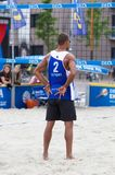 Leeuwarden, Pays-Bas - 10 juin : Playe de volleyball de Bazilian images stock
