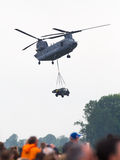 LEEUWARDEN, PAYS-BAS - JUNI 11 2016 : Chinook CH-47 h militaire Image stock