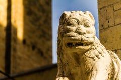Leeuwbeeldhouwwerk Stock Afbeelding