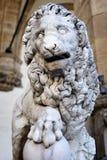 Leeuwbeeldhouwwerk Florence Royalty-vrije Stock Foto's