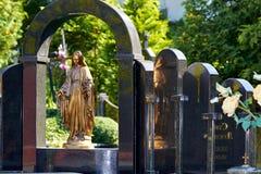 leeuwen Lvivbegraafplaats Stock Fotografie