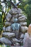 leeuwen Lvivbegraafplaats John Franco - Oekraïense dichter en schrijver Royalty-vrije Stock Foto's