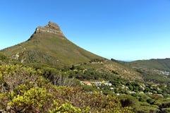 Leeuwenhoofd en Signaalheuvel, Kaapstad. Royalty-vrije Stock Afbeeldingen