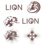 Leeuwenhoofden, leeuwenkruis, leeuwentekst Royalty-vrije Stock Foto