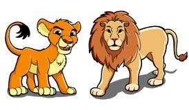 Leeuwfamilie Stock Afbeelding