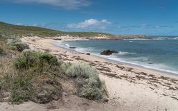 Leeuwin-Naturaliste National Park, Western Australia. Beautiful coastal landscape of Cape Leeuwin, Leeuwin-Naturaliste National Park, Western Australia royalty free stock photography