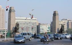 Leeuwstandbeeld van qasral nulstraat Royalty-vrije Stock Afbeeldingen