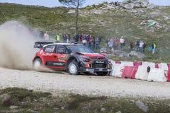 Lefebvre, Citroën C3 WRC Royalty-vrije Stock Afbeeldingen