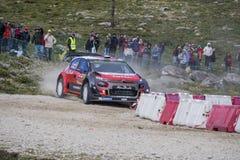 Lefebvre, Citroën C3 WRC Royalty-vrije Stock Fotografie
