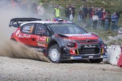 Lefebvre, Citroen C3 WRC Obrazy Stock