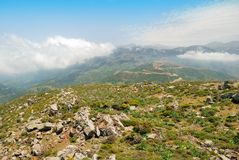 Lefka Ori mountain range on the island of Crete Royalty Free Stock Images