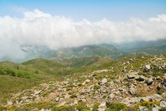 Lefka Ori mountain range on the island of Crete Royalty Free Stock Photo