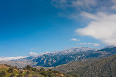 Lefka Ori Mountains. Landscape from the Lefka Ori Mountains in Crete, Greece Royalty Free Stock Photography