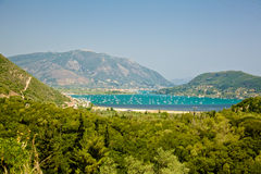 Lefkada ö, Grekland Royaltyfria Foton