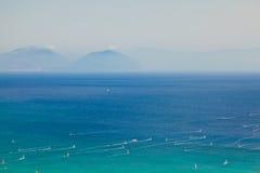 Lefkada ö, Grekland Arkivbilder