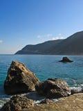 Lefkada, Ag. Nikitas 4. Ag. Nikitas beach at Lefkada Stock Image