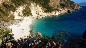 Lefkada Agiofili plaża Zdjęcie Stock