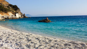 Lefkada Agiofili plaża Obraz Royalty Free