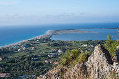 Lefkada cityview  from top of hills Stock Image